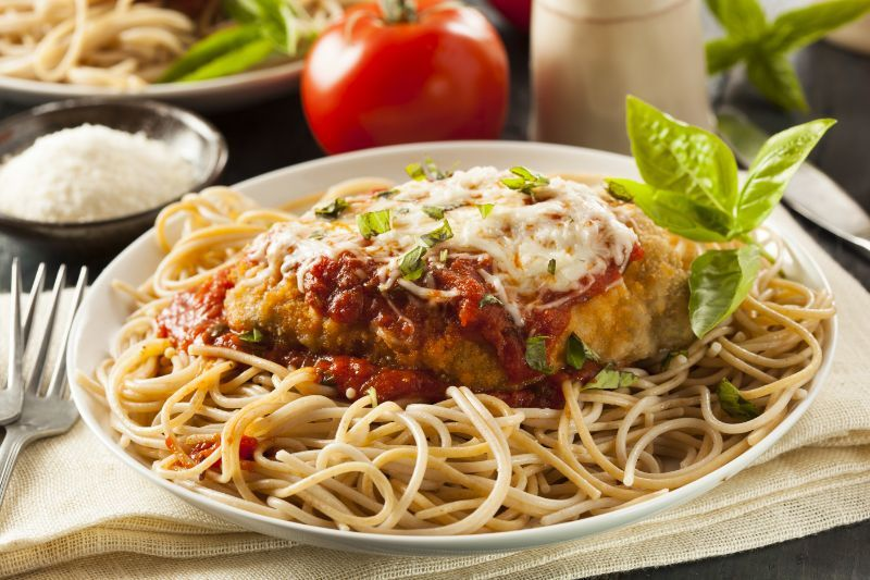 chicken parmesan pasta
