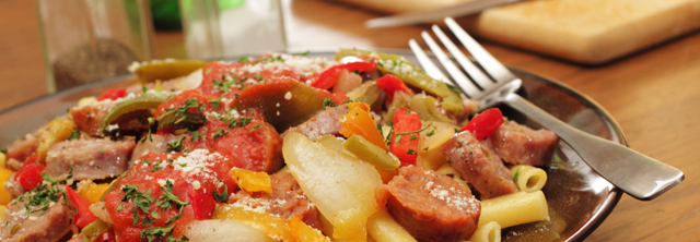 Sausage and Pepper Pasta Dish