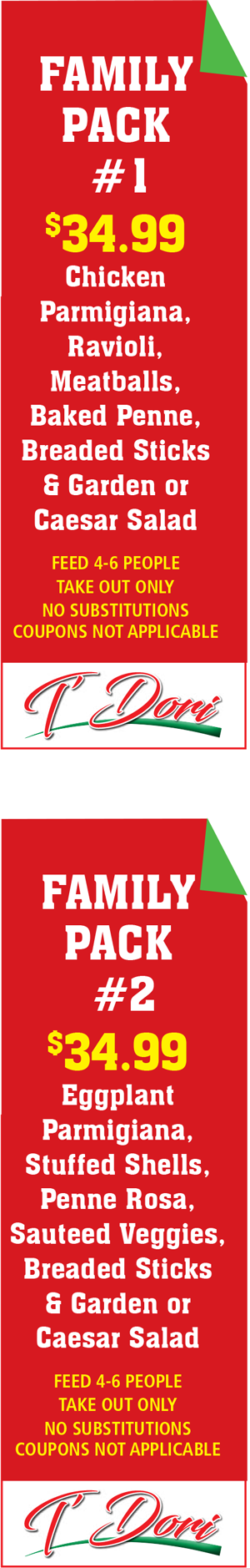 T'Dori Takeout family packs